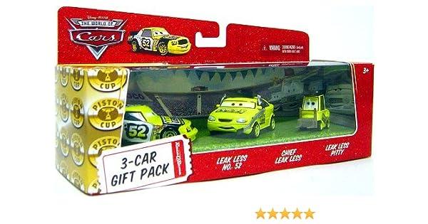 Disney / Pixar CARS Movie 1:55 Die Cast Cars 3-Car Gift Pack Team Leakless (Leak Less No. 52, Chief Leak Less and Leak Less Pitty): Amazon.es: Juguetes y juegos