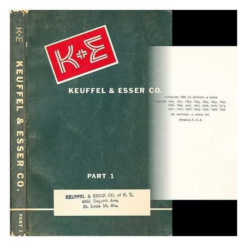 Keuffel & Esser Catalog 42nd edition part 1: Drafting - Reproduction equipment - and materials - Slide rules ()