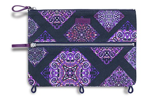 - Vera Bradley Binder Pencil Pouch Toiletry Travel Bag with Zip Close (Dream Tapestry)