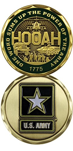 U.S. Army One Word HOOAH! Challenge Coin