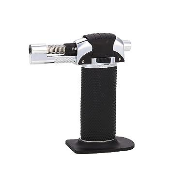 Aprettysunny 1 Pieza Resistente al Viento Recargable de Gas Micro Jet Blow butano Linterna Encendedor de Llama Soldador Brasileño Soldadura Barbacoa al Aire ...