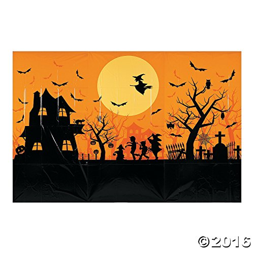 Classic Halloween Night Party Decoration Backdrop Mural -