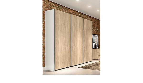 Armario de puertas correderas Klipick. (3 puertas). Dimensiones: longitud: 255 cm, profundidad: 60 cm, altura: 240 cm.: Amazon.es: Hogar