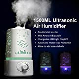aroma atomizer air diffuser - 1.5L Ultrasonic Home Aroma Humidifier Air Diffuser Purifier Lonizer Atomizer OY
