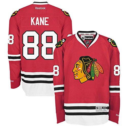 NHL Men's Chicago Blackhawks #88 Patrick Kane Reebok Edge Premier Player Jersey (Red, Medium)