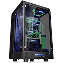 Thermaltake CA-1H1-00F1WN-00 Tower 900 Tempered Glass Fully Modular E-ATX Vertical Super Tower Gaming Computer Case Chassis Edition, Black