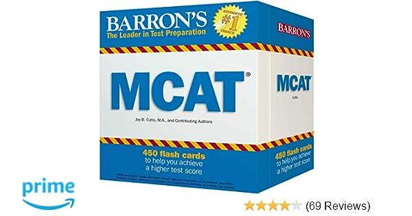 Barrons Mcat Flash Cards 9781438075549 Medicine Health Science