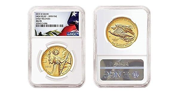 $5 1//10oz Gold American Eagle MS70 NGC ER Blue Label 2016