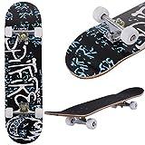 Costzon 31'' x 8'' Complete Skateboard Maple Deck Wood Professional Skate Board (Spitfire)