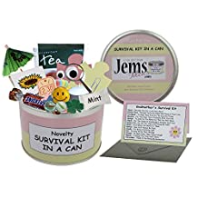 Godmother Survival Kit In A Can. Novelty Fun Gift - Humorous Godparent All In One Thank You Present & Card. Christening/Baptism/Naming Day Thankyou From A Godson/God Daughter. Customise Your Can Colour. (Pink/Cream) by Survival Kit In A Can