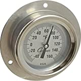 Cooper-Atkins 2255-03-5 Bi-Metal Thermometer with 3.5'' Back Flange, 2'' Dial Size, 9'' Stem Thermometer, -40°F to 160°F Temperature Range