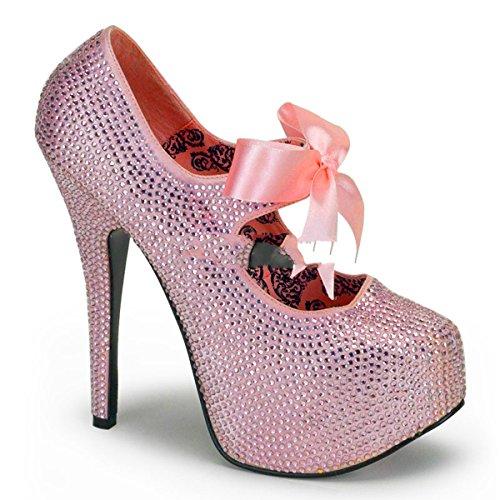Bordello Teeze-04R - sexy burlesque plateaus chaussures femmes talon hauts - taille 36-43
