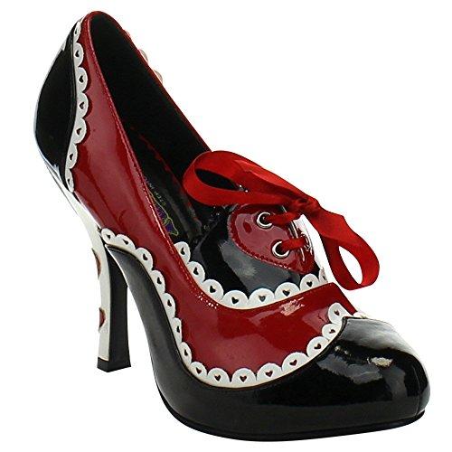 Sunny&Baby Women's Shoes Queen Of Hearts Platform Ladies Costume Pumps 4