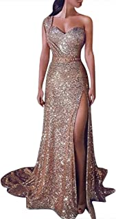 Bibao Women's Bling Strap Floor Length Long Prom Sequin Dresses,Wedding Noble Princess Dress (Black, L2)