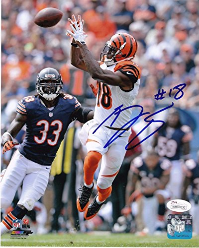 (A.J. Green Autographed Photo - 8x10 - JSA Certified - Autographed NFL)