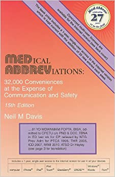 Medical Abbreviations: 32,000 Conveniences At The Expense Of Communication And Safety Download.zip
