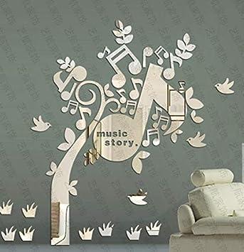 JWQT Pegatinas de pared Nota feliz sobre el espejo, símbolo del ...