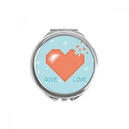 Diythinker Disparais Coeur Give Love Pixel Miroir Rond