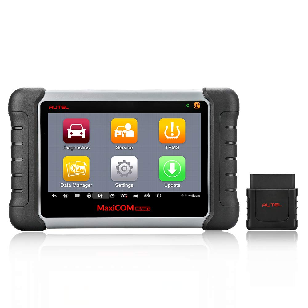 Autel MaxiCOM MK808TS Enhanced Diagnostic Scan Tool of MK808BT and MK808 with Complete TPMS Functions, Full Systems Diagnoses and Reset Services including EPB, BMS, SAS, DPF, Oil Reset IMMO Service et