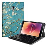Fintie Keyboard Case for Samsung Galaxy Tab A 8.0 2017 Model T380/T385, Smart Slim Shell Stand Cover with Detachable Wireless Bluetooth Keyboard for Galaxy Tab A 8.0 2017 SM-T380/T385, Blossom