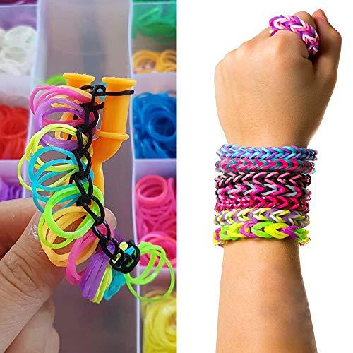 VICOVI 15000 Colorful Rubber Loom Bands Refill Kit for Boy Girl DIY Craft Gift Set Include: + 500 Cute Clips+ 6 Hooks + 15 Charms
