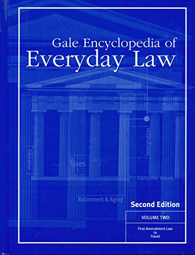 Gale Encyclopedia of Everyday Law