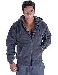 Big & Tall Oversized Heavyweight Sherpa Lined Fleece Hoodie Sweatshirts for Men Winter Zip Long Sleeve Jacket
