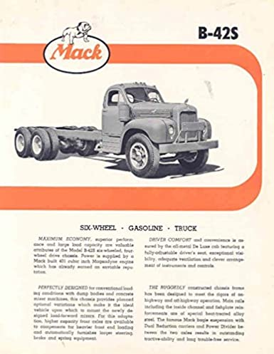 Amazon Com 1956 Mack B42s Truck Sales Brochure Entertainment