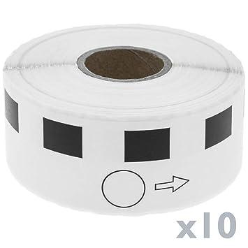 BeMatik - Rollo Bobina de 1200 Etiquetas Adhesivas compatibles con ...