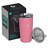 All in One Coffee Maker Coffee Gator Pour Over Coffee Maker - All in One Paperless Travel Brewer (Pink)