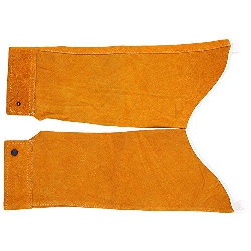 Mangas de soldadura resistentes al calor con diseño ergonómico de guante largo, con forro de algodón, mejor para soldar...