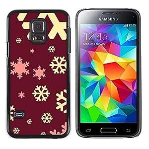 rígido protector delgado Shell Prima Delgada Casa Carcasa Funda Case Bandera Cover Armor para Samsung Galaxy S5 Mini, SM-G800, NOT S5 REGULAR! /Yellow Pink Red Winter Christmas/ STRONG