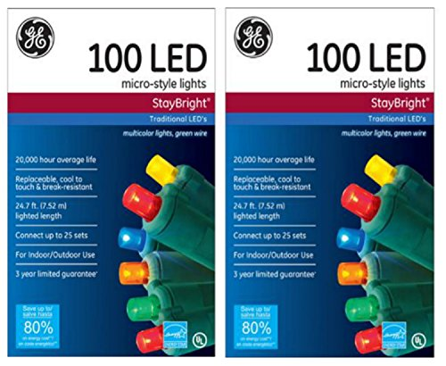 Ge Staybright Micro Style Led Christmas Lights Multi