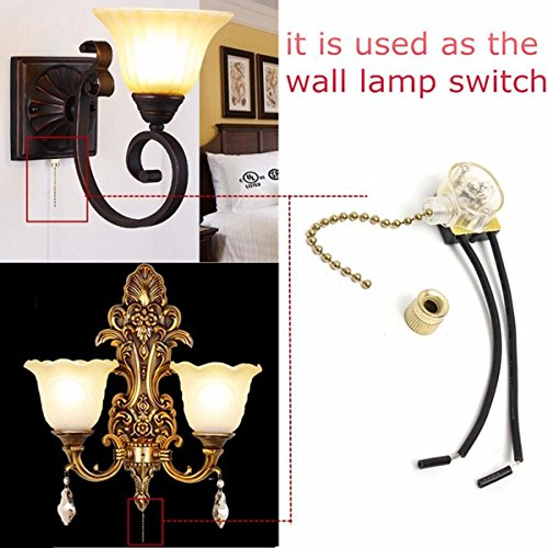 Pendant Light Accessories - Universal Ceiling Fan Wall Light Replacement Pull Chain Brass Switch - Attract Mountain Ambidextrous Overstretch Permutation Draw Iron Swap Perpetrate Trade - 1PCs by Unknown