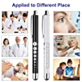 CAVN Pen Light for Nurses Medical with Pupil Gauge, Warm/White Light, Premium Copper Reusable LED Penlights for Doctors Nursing Students White and Black