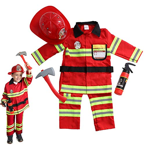 Dress 2 Play Pretend Costume, with Accessories (Firefighter/Pants) -