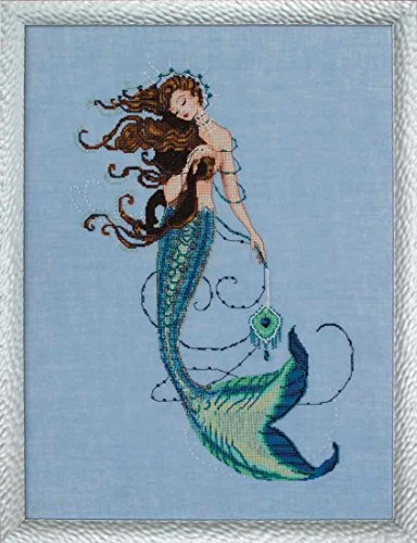 Renaissance Mermaid AIDA Beaded Counted Cross Stitch Kit by