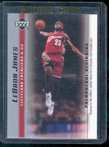 2003 Upper Deck Phenomenal Beginning #5 Lebron James Soaring Rookie Card - Mint Condition Ships in a Brand New Holder