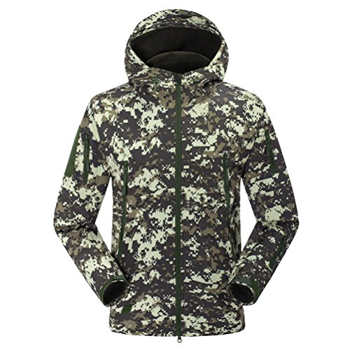 Gray Waterproof amp;camouflage Bello Jacket Sunscreen Zhuhaitf Outdoor Men's Shark Skin Hooded XOwxzv