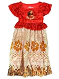 Moana Disney Princess Girls Toddler Fantasy Gown Nightgown Pajamas (4T, Red/Multi)