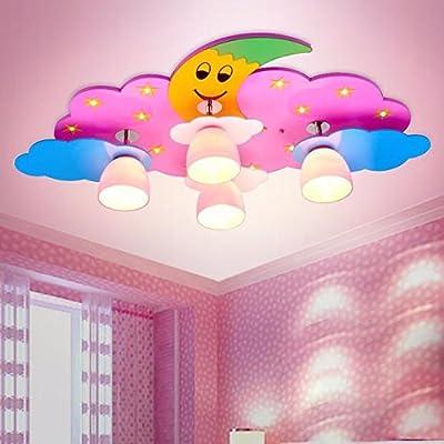 DIDIDD Creative cartoon children ceiling lamp led artwork light for boys and girls are light bedroom lantern festival to eye lamps