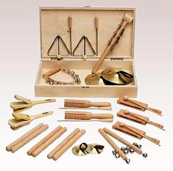 Amazon.com: KIT PEQUEÑA PERCUSION - Goldon (30140) Caja de Madera (32 Piezas Pequeñas de Percusion): Musical Instruments