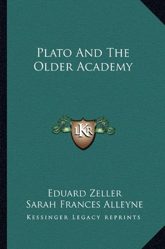 Read Online Plato And The Older Academy PDF