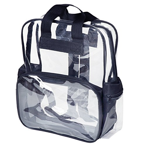 Kids Size Clear Backpack Security School Deluxe for Boys Girls Small, (Age 3-10) (Clear Backpack With Wheels)
