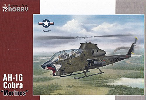 "Special Hobby AH1G Cobra ""Marines"" US Helicopter New Tool with Resin Parts Model Kit (1/72 Scale)"