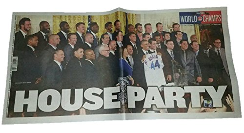 Chicago Cubs World Series White House Visit with Barack Obama - Chicago Sun Times - HOUSE PARTY - 1/17/17 - Full Newspaper