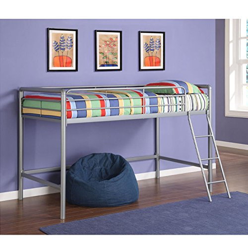 DHP Junior Loft Bed Frame With Ladder, Multifunctional Space-Saving Design
