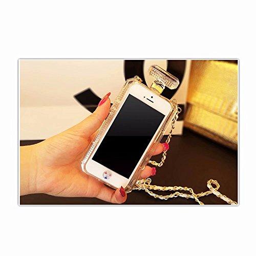 Pulgada 6 Silicona 4 Carcasa 6S Funda iPhone 7 iPhone Bling 2 Transparente para MingKun Fundas Suave iPhone TPU 6S Botella ZCw7x0qF