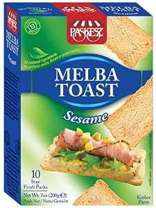 Paskesz Melba Toast, Melba Toast Sesame, 7-Ounce Package