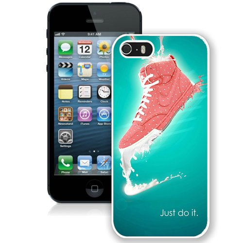 Coque,Fashion Coque iphone 5S Just Do It Nike blanc Screen Cover Case Cover Fashion and Hot Sale Design
